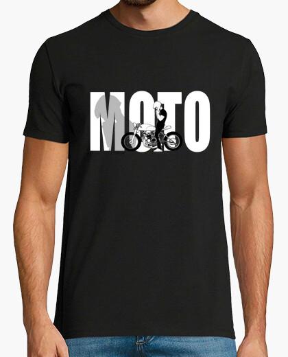 Camiseta motos moto café