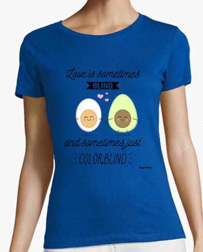 Tee-shirt mots heureux - anglais daltoniens amour lettres noires