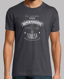 mots heureux - shirt avec superpuissances pour faire face à les lundi avec un grand sourire - lettre