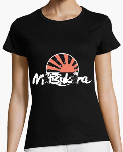 Motsukora - rising sun white girl t-shirt
