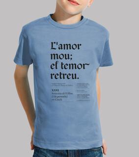 mou lamor il retreu paura (camicia della ragazza / bambino)