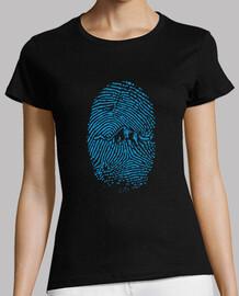 mountain fingerprint woman