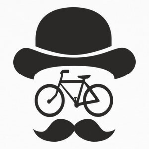 T-shirt movember bike black