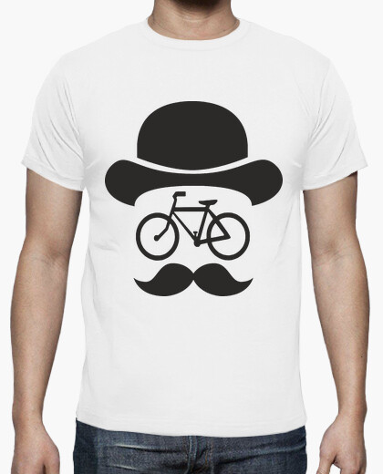 Movember bike black t-shirt