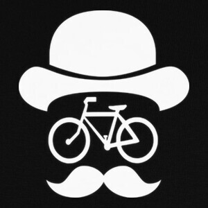 T-shirt movember bike white