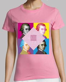 Mozart Pop, Mujer, manga corta, rosa, calidad premium