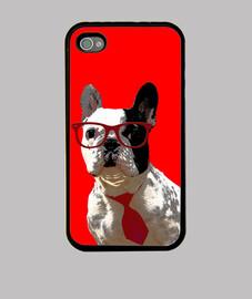 MPF - Oreo Hipster (rojo). iPhone 4/4S.