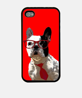 mpf - oreo hipster (rosso). iphone 4 / 4s.