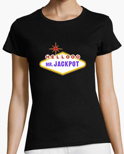 Camiseta Mr. Jackpot Twin Peaks Negra Chica