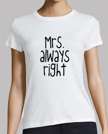 mrs. always a destra