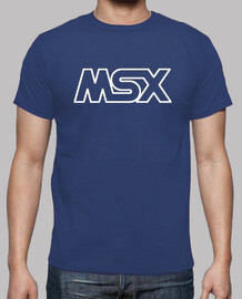 MSX Logo OUTLINE Blanco