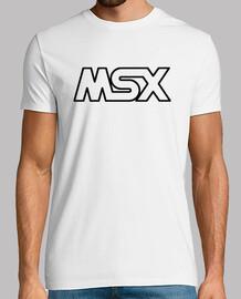MSX Logo OUTLINE Negro