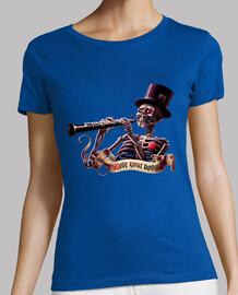 Mueve el esqueleto camiseta mujer