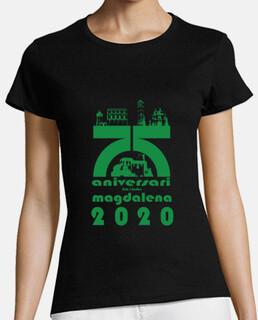 Mujer, Camiseta 75 fiestas de la Magdalena, calidad extra