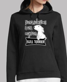 Mujer con bull terrier s.b