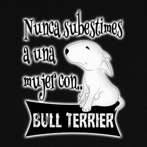 Camisetas Mujer con bull terrier s.b