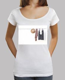 Mujer, cuello ancho & Loose Fit, blanca