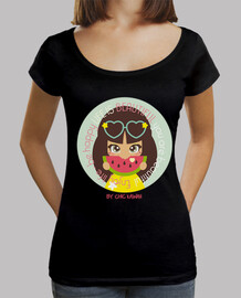 Mujer, cuello ancho & Loose Fit, negra