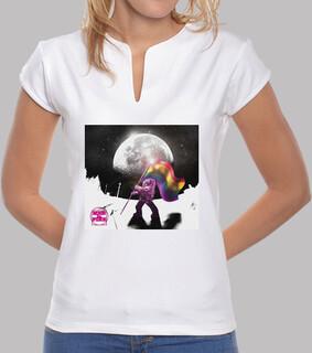 Mujer, cuello mao, rosa
