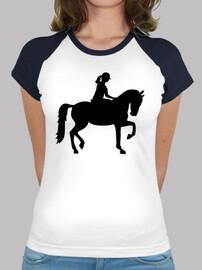 mujer de equitación