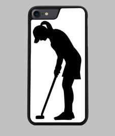 mujer de golf