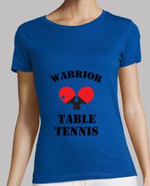 mujer de la camisa de tenis de mesa, azul real, de calidad superior