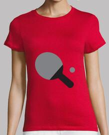 mujer de la camisa de tenis de mesa, rojo, de calidad superior