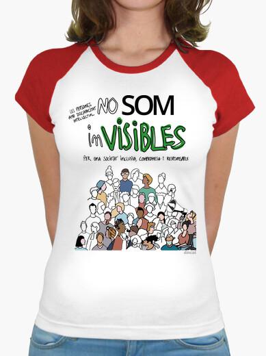 Camiseta Mujer, estilo béisbol, blanca y...