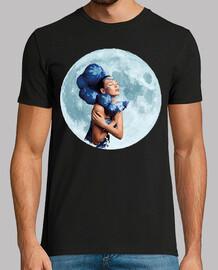 Mujer Genio Lámpara y Luna llena