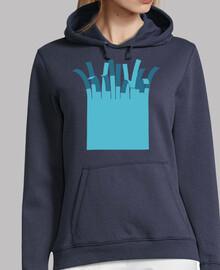 Mujer, jersey con capucha, azul marino