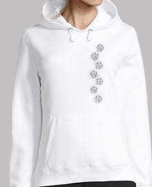 Mujer, jersey con capucha, blanco