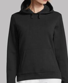 Mujer, jersey con capucha, negro