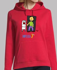 Mujer, jersey con capucha, rojo