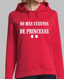 Mujer, jersey con capucha, rojo con mensaje