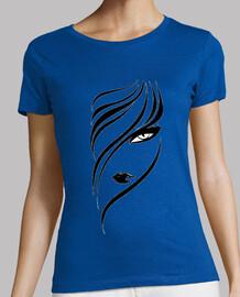 Mujer, manga corta, azul cielo, calidad premium