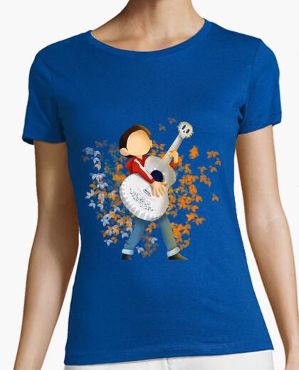 Camiseta Mujer, manga corta, azul cielo, calidad premium