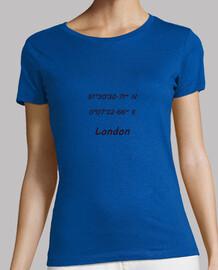 Mujer, manga corta, azul cielo, calidad premium Coordenadas London