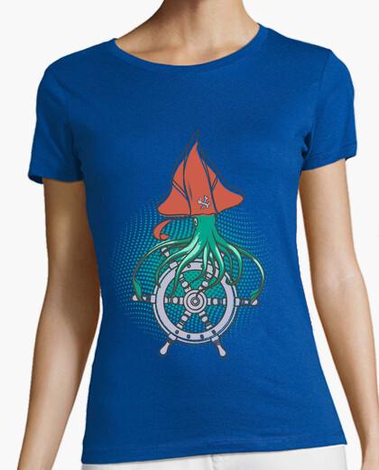 Camiseta Mujer, manga corta, azul royal, calidad premium