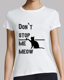 Mujer, manga corta, blanca, - La verdad de los gatos