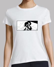 Mujer, manga corta, blanca, calidad premium