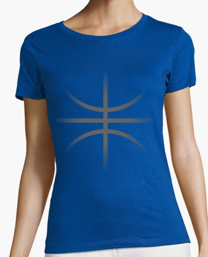 Camiseta Mujer, manga corta, gris oscuro, calidad premium