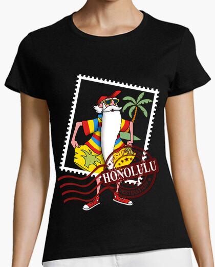 Camiseta Mujer, manga corta, negra, calidad premium