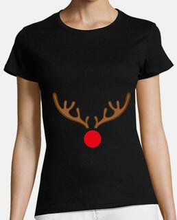 Mujer, manga corta, negra, calidad premium Rudolf