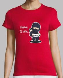 Mujer, manga corta, roja, calidad premium