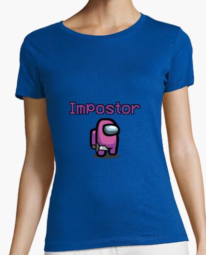 Camiseta Mujer, manga corta, rosa, calidad...