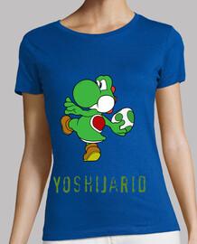 Mujer, manga corta, verde, calidad premium Yoshiana
