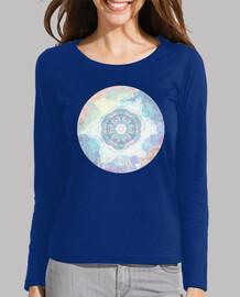 Mujer, manga larga, azul eléctrico
