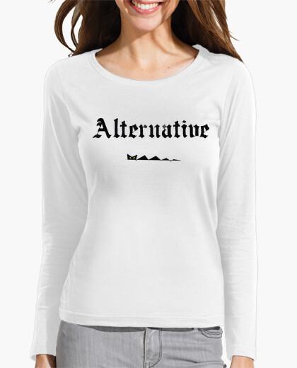 Camiseta Mujer, manga larga, blanco