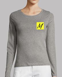 Mujer, manga larga, gris mezcla