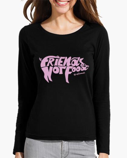 Camiseta Mujer, manga larga, negra